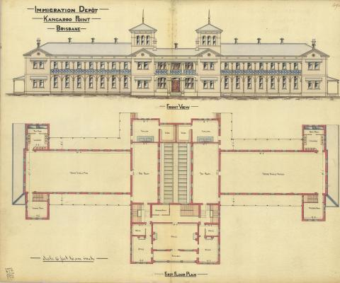 Architectural drawing of the Yungaba Immigration Depot