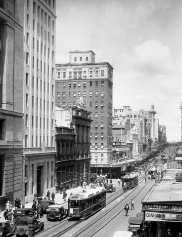 View of Queen Street from early 1930