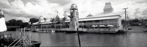 Panorama view of the Breakfast Creek Hotel wharf