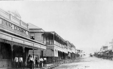 View of Mosman Street, Charters Towers, c1888
