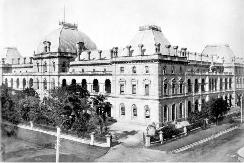 Parliament House - viewed from across Margaret Street and showing granduer of the architecture
