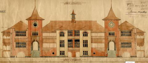 Architectural drawing of the Bowen Bridge State School
