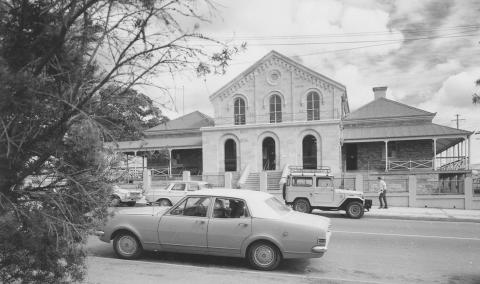 Exterior of the Ipswich courthouse as seen in 1975