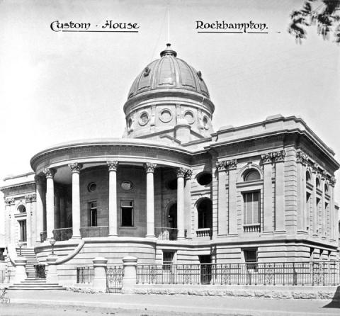 Exterior of customs house in Rockhampton built in a grand Roman style