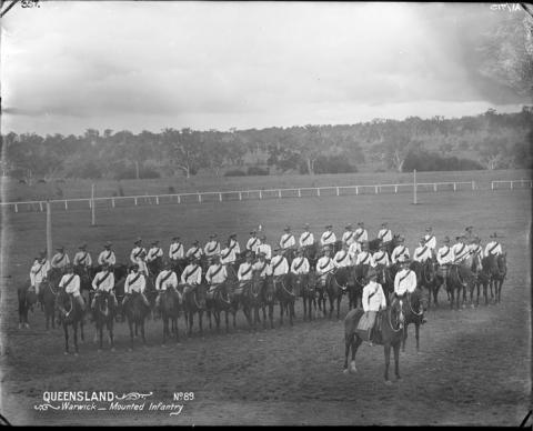 Mounted Infantry, Warwick, c1897
