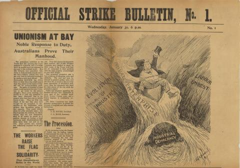 Front cover of the publication Official Strike Bulletin No. 1
