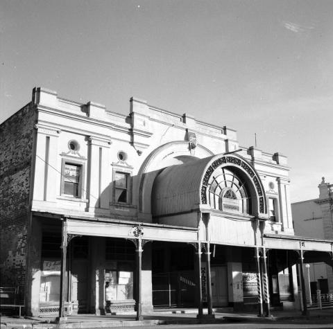Exterior of a grand arcade in the CBD of Charters Towers