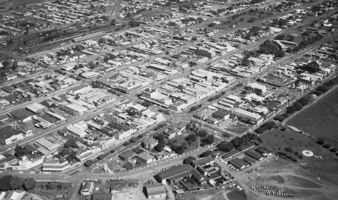 Aerial image of Cairns c1966