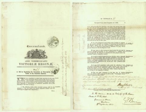 Unoccupied Crown Lands Occupation Act of 1860, (Top 150 #7)