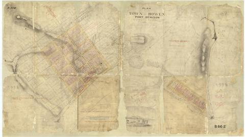 Plan of the Town of Bowen, Port Denison, District of Kennedy, by Clarendon Stuart