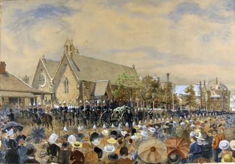 6938 Sir Anthony Musgrave Funeral [Work of Art] 1888-1890
