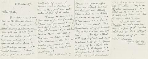 Letter from Arthur Hoey Davis to his Father