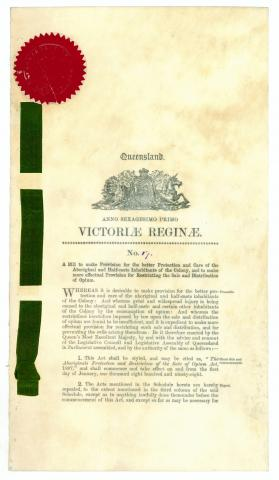 Aboriginals Protection and Restriction of the Sale of Opium Act of 1897