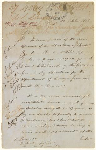 Augustus Gregory's Application for the position of Queensland's first Surveyor-General