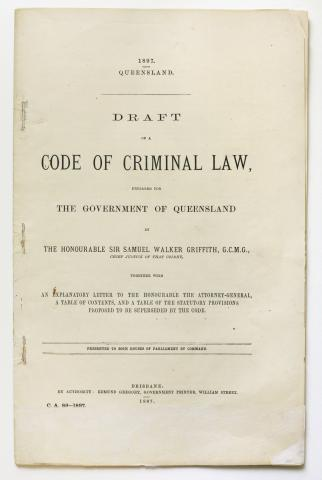 Draft of a Code of Criminal Law - Front page