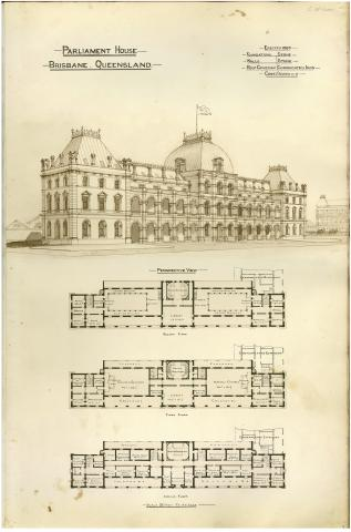Architectural plans of Parliament House