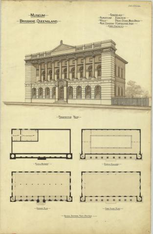 Plans of the Queensland Museum, Brisbane