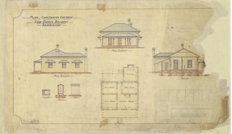 Plan of Caretakers Cottage, Law Courts, Brisbane.