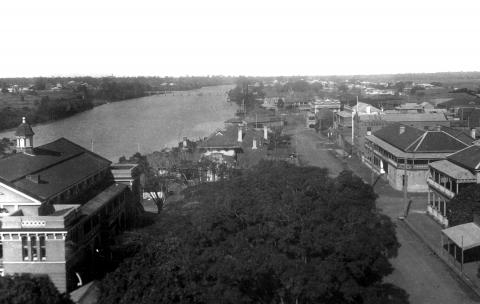 Maryborough looking from the Post Office tower, c 1934