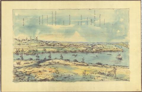 Colour Sketch of Moreton Bay Colony circa 1831