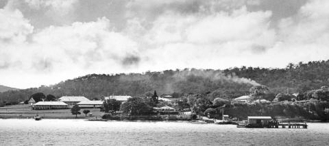 View of Benevolent Asylum, Dunwich, North Stradbroke Island, 10 June 1937.