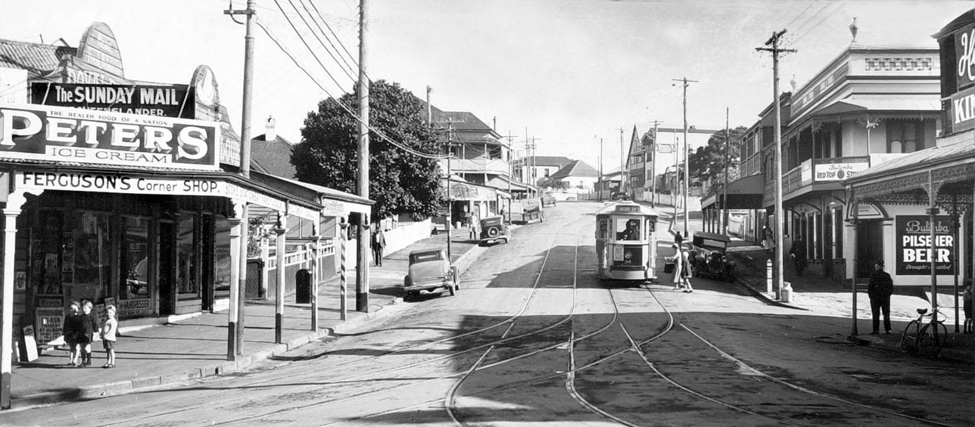 Street scape of early 1900s Spring Hill in Brisbane
