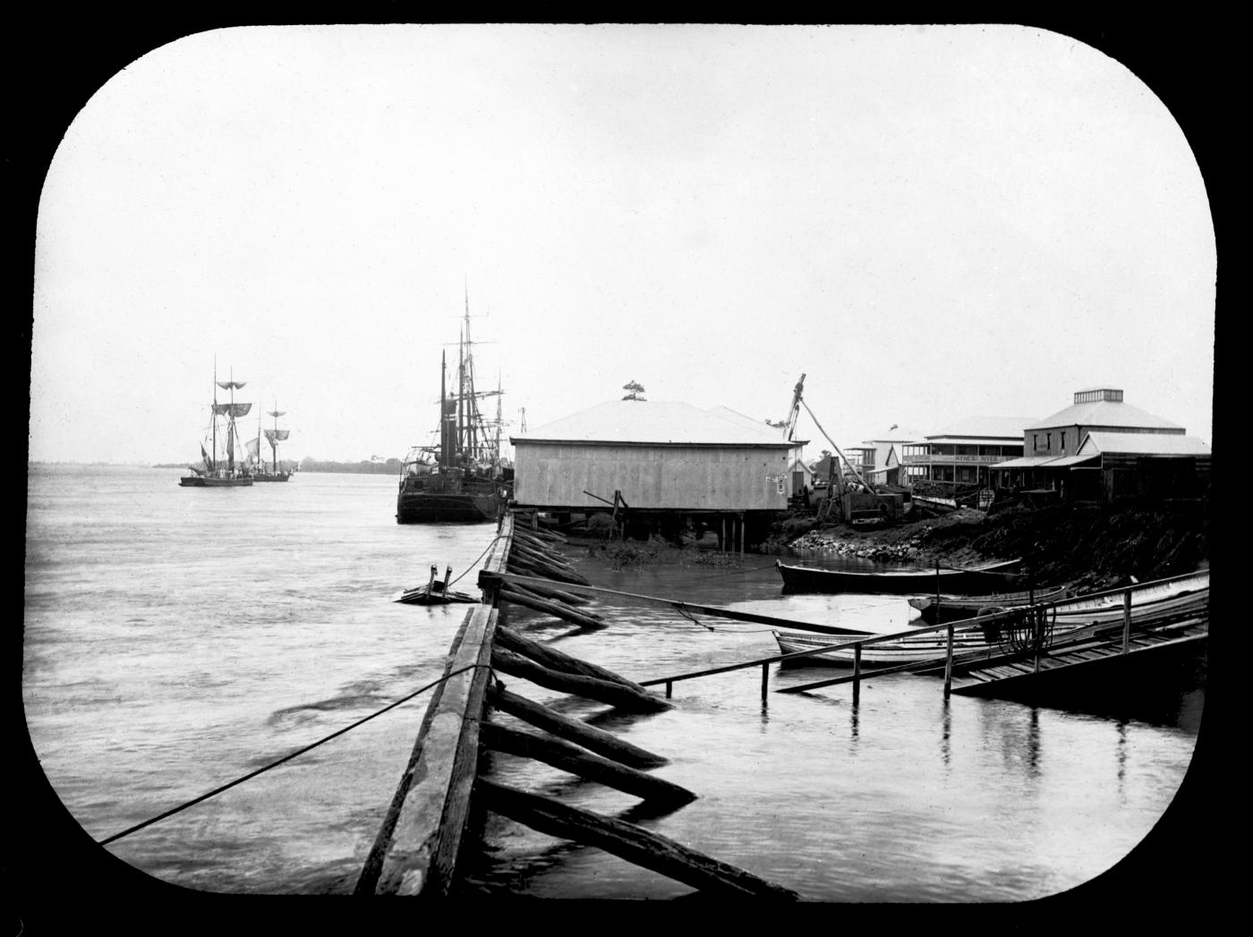 The Mackay waterfront, c 1886.