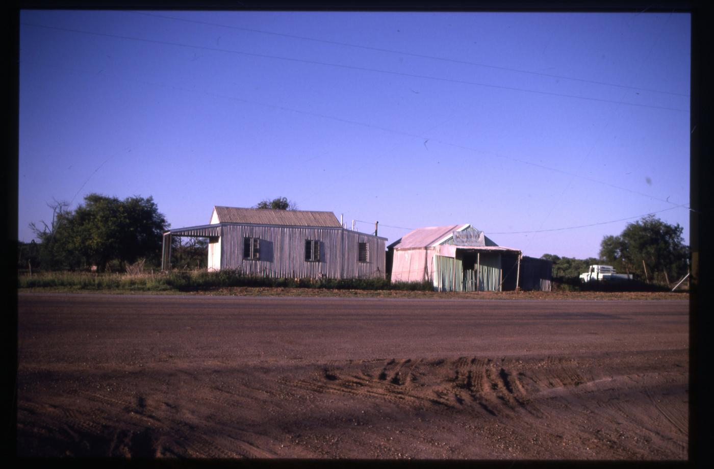 Willie Mar's Vegetable Store, Winton - view of store and shed