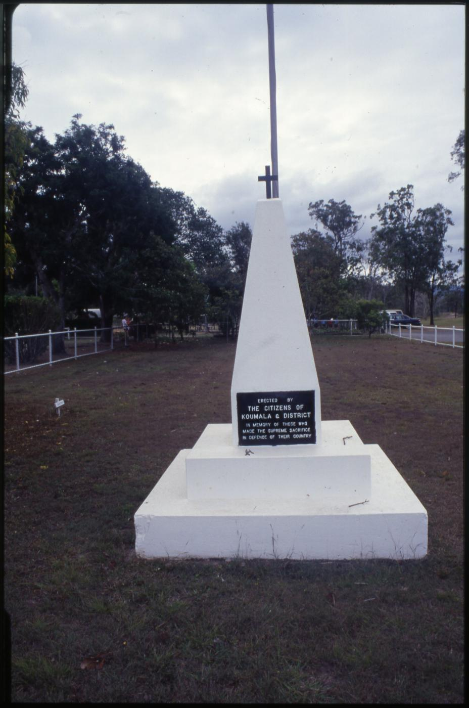 Koumala War Memorial: Closer view