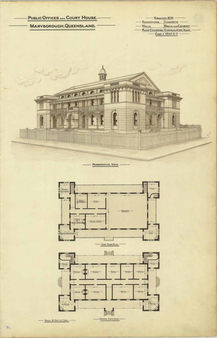 Plans of the Public Offices, Maryborough