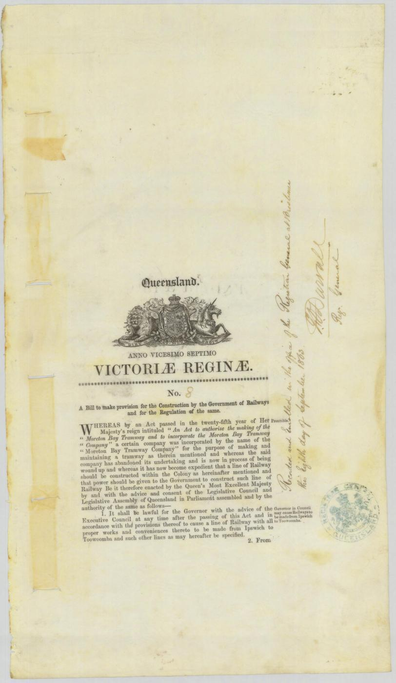 Railway Act of 1863