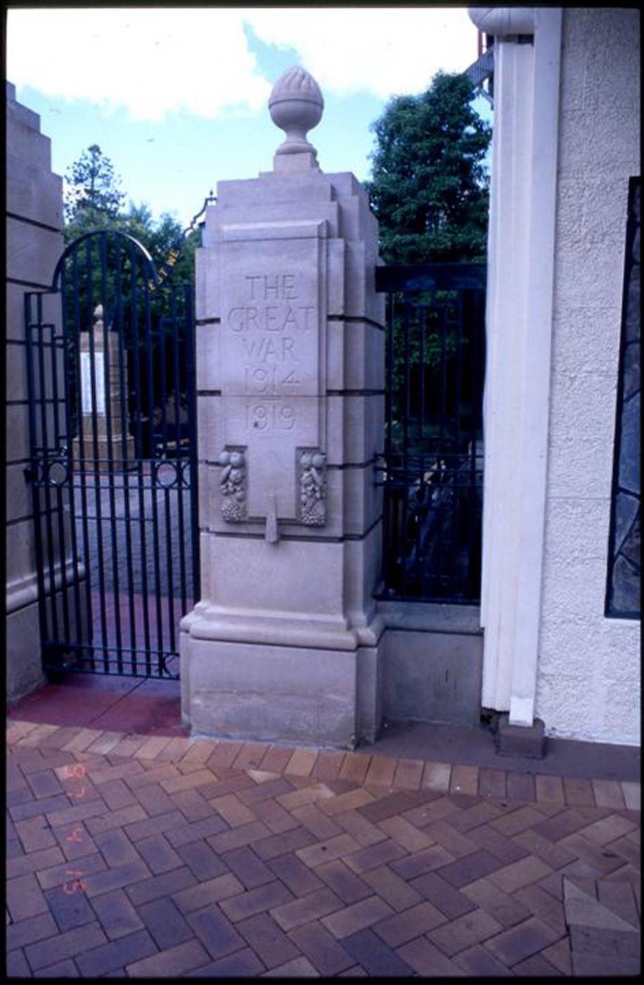 Gympie and Widgee War Memorial Gates, South pillar