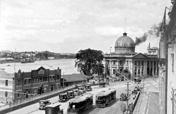 Customs House, Queen Street and Petrie Bight, Brisbane, October 1926