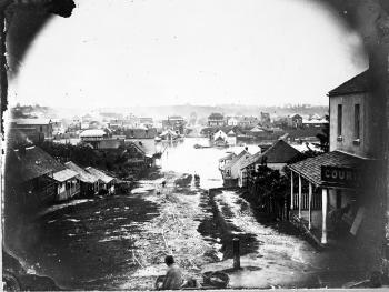 Flooded Charlotte Street, March 1864