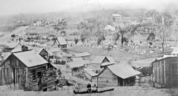 Milton looking across the former Paddington Cemetery, c 1870