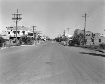 View of the exterior street scene in Charleville in the mid 1950s