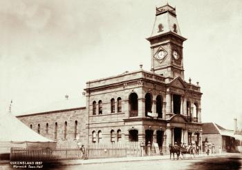 Grand exterior of the post office of Warwick, Queensland