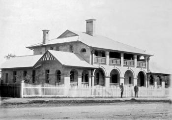 Exterior of the Warwick police station, a grand Queenslander style building