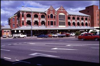 View of the Townsville train station seen from across the road