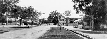 Panoramic view of Abbott Street in Cairns from the 1920s