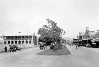 Wide view of Abbott Street in Cairns from the 1920s