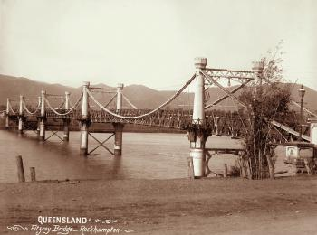 View of a wooden bridge across the Fitzroy River
