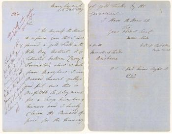 James Nash's letter regarding gold at Gympie, 1867