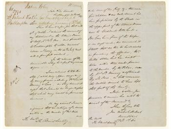 Letter from Lieutenant Patrick regarding the murder of Mr Wills