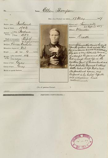 Criminal Record of Ellen Thompson
