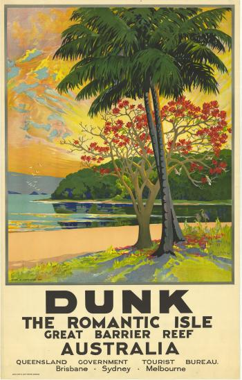 Poster promoting Dunk Island, c1939