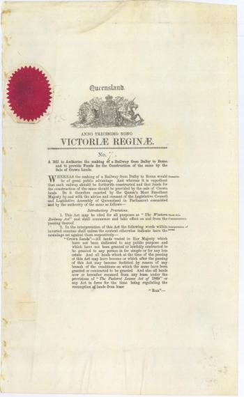 QSA ID 611079:Acts of the Parliament of Queensland:  VOL 11, 38 & 39 VIC