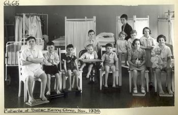 Child patients at Sister Kenny Clinic, Brisbane, November 1938