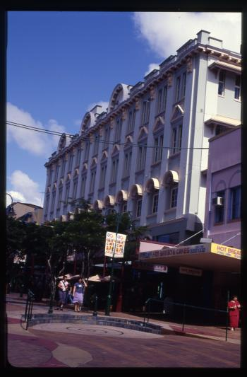 TC Beirne Complex and Fortuneland Centre, Brunswick St Elevation