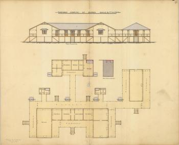 Architectural drawing of the proposed Hospital, Cairns